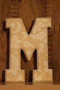 Wooden letter covered with napjin_resized