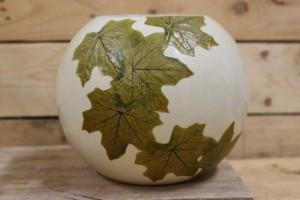 satin ivy leaf vase