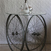 Table from bicycle rims